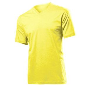 Stedman-ST2300-Miesten-V-Aukkoinen-T-Paita-Yellow