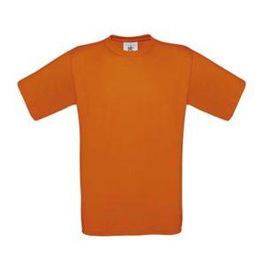 B&C-190-Miesten-Puuvilla-T-Paita-Orange