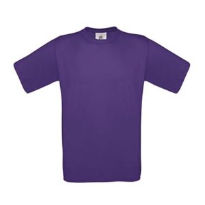 B&C-190-Miesten-Puuvilla-T-Paita-Purple