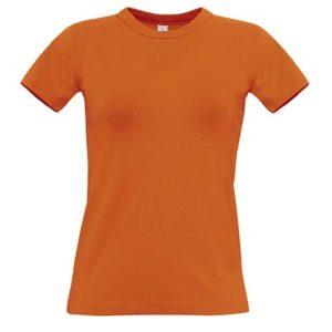 B&C-190-Naisten-Puuvilla-T-Paita-Painatus-Orange