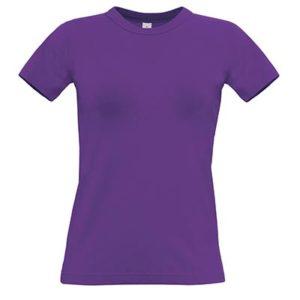 B&C-190-Naisten-Puuvilla-T-Paita-Painatus-Purple