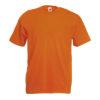 Fruit-of-the-Loom-Valueweight-Miesten-T-Paita-Painatus-Orange