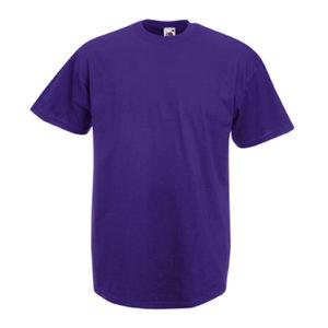 Fruit-of-the-Loom-Valueweight-Miesten-T-Paita-Painatus-Purple