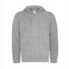 B&C-Full-zip-hooded-sweatshirt-Miesten-Vetoketjullinen-Huppari-HeatherGrey-harmaa