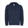 B&C-Full-zip-hooded-sweatshirt-Miesten-Vetoketjullinen-Huppari-Navy-tummansininen