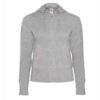 B&C-Women-Full-Zip-Hooded-Sweatshirt-Naisten-Vetoketjullinen-Huppari-HeatherGrey-harmaa