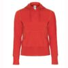 B&C-Women-Full-Zip-Hooded-Sweatshirt-Naisten-Vetoketjullinen-Huppari-Red-punainen