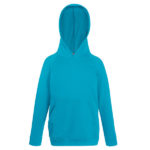Fruit-Of-The-Loom-Kids-Lightweight-Hooded-Sweat-Lasten-Huppari-Azure-Blue-Turkoosi
