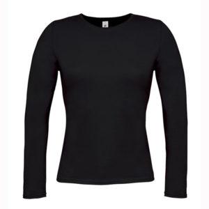 B&C-Women-Only-LongSleeva-Pitkähihainen-T-paita-Black-Musta
