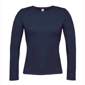 B&C-Women-Only-LongSleeva-Pitkähihainen-T-paita-Navy-tummansininen