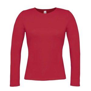 B&C-Women-Only-LongSleeva-Pitkähihainen-T-paita-Red-punainen