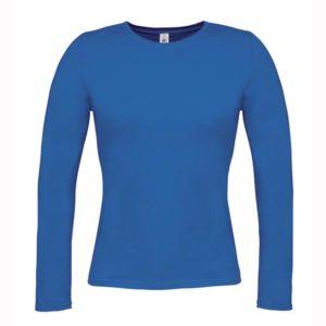 B&C-Women-Only-LongSleeva-Pitkähihainen-T-paita-Royal-Blue-sininen