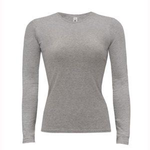 B&C-Women-Only-LongSleeva-Pitkähihainen-T-paita-Sport-Grey-harmaa