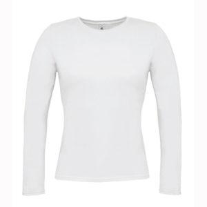 B&C-Women-Only-LongSleeva-Pitkähihainen-T-paita-White-valkoinen
