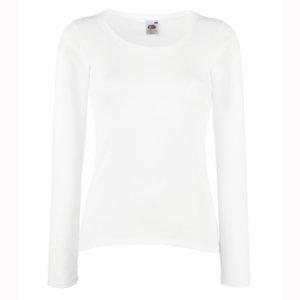 Fruit-Of-The-Loom-Lady-Fit-Valueweight-Long-Sleeve-T-Naisten-pitkähihainen-T-paita-White-valkoinen