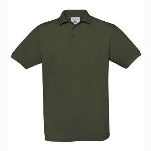 B&C-Fine-Pique-Polo-miesten-pikeepaita-Khaki-ruskea