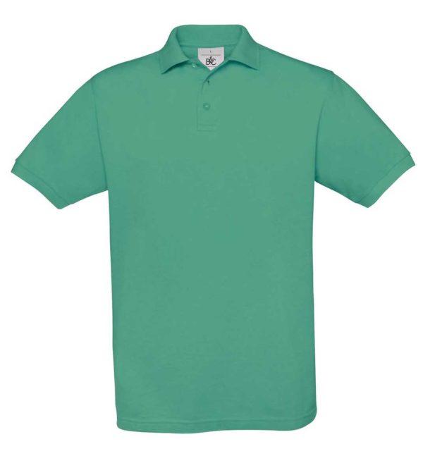 B&C-Fine-Pique-Polo-miesten-pikeepaita-PacificGreen-vihreä