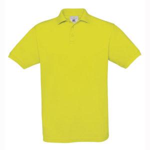 B&C-Fine-Pique-Polo-miesten-pikeepaita-PixelLime-keltainen
