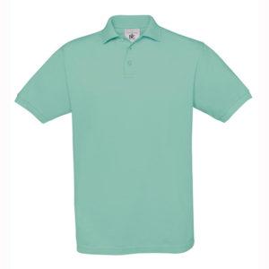 B&C-Fine-Pique-Polo-miesten-pikeepaita-PixelTurquoise-vaaleaturkoosi
