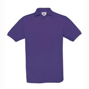 B&C-Fine-Pique-Polo-miesten-pikeepaita-Purple-violetti