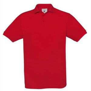 B&C-Fine-Piquet-Polo-miesten-pikeepaita-Red-punainen