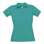 B&C-Short-Sleeved-Fine-Piquè-Polo-Shirt-naisten-pikeepaita-RealTurquoise-turkoosi
