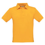B&C-Short-Sleeved-Fine-Pique-Kids-Polo-Shirt-Lasten-pikeepaita-Gold-kultakeltainen