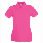 Fruit-Of-The-Loom-Lady-Fit-Premium-Polo-Naisten-pikeepaita-Fuchsia-pinkki