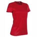 Stedman-ST8100-Active-Sports-T-naisten-tekninen-t-paita-Crimson-Red-Punainen