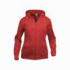 clique-basic-hoody-full-zip-ladies-naisten-vetoketjullinen-huppari-punainen
