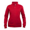 clique-basic-cardigan-ladies-naisten-vetoketjullinen-collegepaita-punainen