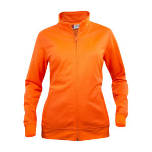 clique-basic-cardigan-ladies-naisten-vetoketjullinen-collegepaita-visibility-orange