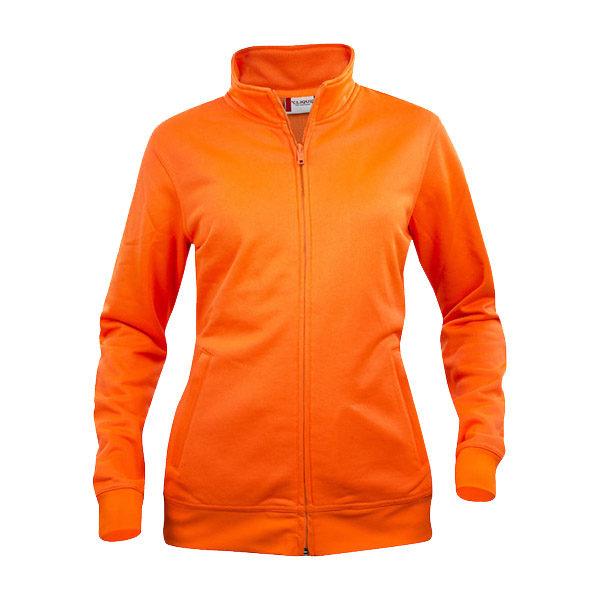 clique-basic-cardigan-ladies-naisten-vetoketjullinen-collegepaita-visibility-orange