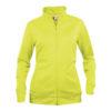 clique-basic-cardigan-ladies-naisten-vetoketjullinen-collegepaita-visibility-yellow