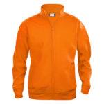 clique-basic-cardigan-miesten-vetoketjullinen-collegepusero-orange
