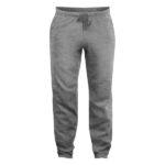 clique-basic-pants-collegehousut-meleerattu-harmaa