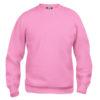 clique-basic-roundneck-collegepaita-bright-pink