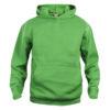 clique-basic-hoody-junior-lasten-huppari-apple-green