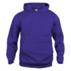 clique-basic-hoody-junior-lasten-huppari-strong-purple