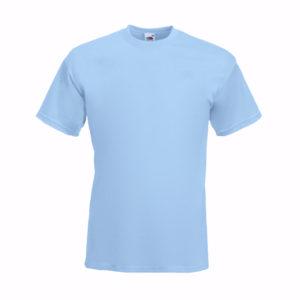 fruit-of-the-loom-super-premium-tee-miesten-puuvilla-t-paita-sky-blue