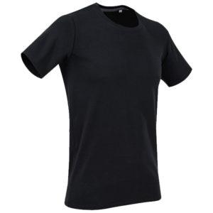 stedman-st9600-clive-miesten-o-aukkoinen-puuvilla-t-paita-black-opal