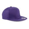 beechfield-5-panel-snapback-rapper-cap-purple