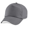 beechfield-junior-original-5-panel-cap-graphite-grey