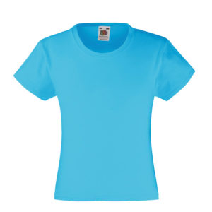 fruit-of-the-loom-girls-valueweight-t-tytto%cc%88jen-puuvilla-t-paita-azure-blue