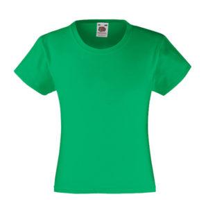 fruit-of-the-loom-girls-valueweight-t-tytto%cc%88jen-puuvilla-t-paita-kelly-green