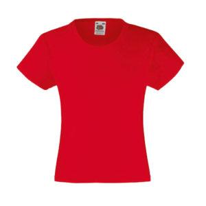 fruit-of-the-loom-girls-valueweight-t-tytto%cc%88jen-puuvilla-t-paita-red