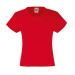 fruit-of-the-loom-girls-valueweight-t-tytto%cc%88jen-puuvilla-t-paita-red