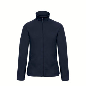 B&C-Ladies-Micro-Fleece-Full-Zip-Naisten-Fleece-Takki-navy