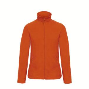 B&C-Ladies-Micro-Fleece-Full-Zip-Naisten-Fleece-Takki-oranssi