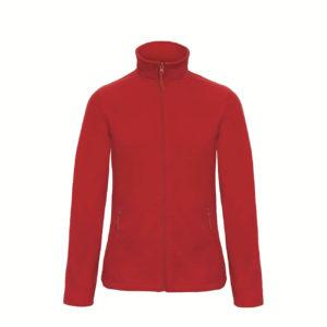 B&C-Ladies-Micro-Fleece-Full-Zip-Naisten-Fleece-Takki-punainen